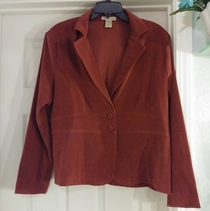 Notations rust colored womens blazer size XL